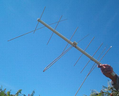 Speaking, amateur vhf antenna